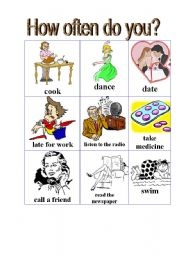 English Worksheets: How often do you? Two Pages