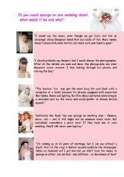 English Worksheet: Wedding