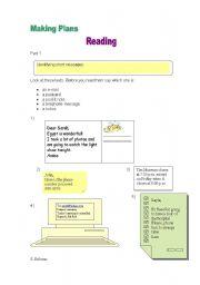 English Worksheets: Short Messages