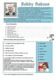 English Worksheets: Bobby Robson and Jose Mourinho