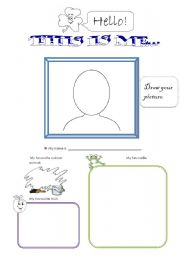 This is me... (1st grade) - 2 pages
