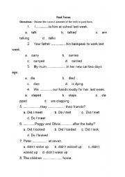 English worksheet: past simple
