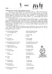 English Worksheet: TEST - Revision OR Placement