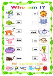 English Worksheets: Animal match