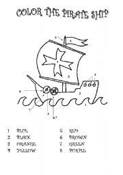 English teaching worksheets: Pirates