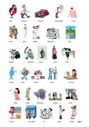 Worksheets gt jobs occupations professions gt jobs gt cliparts about jobs