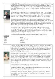 English Worksheets: Survivor candidates