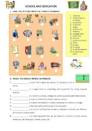 English Worksheets: SCHOOL and EDUCATION