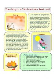 English Worksheets: Mid Autumn Festival