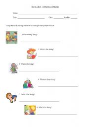 English Worksheets: Actions Now