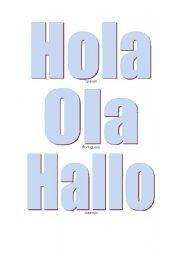 English Worksheets: International Hello