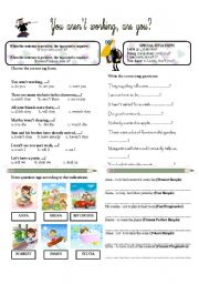 English Worksheets: YOU AREN�T WORKING, ARE YOU?