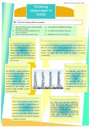 English Worksheets: The rotating skyscraper in Dubai