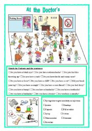 English Worksheet: At the doctor�s
