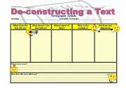 English Worksheets: De-Constructing a text