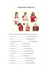 English Worksheet: Comparatives with high school musical