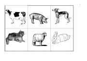 English Worksheet:  MOTHERS AND BABIES ANIMALS - MEMORY GAME
