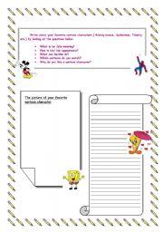 English Worksheets: writing handout