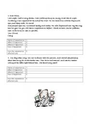 English Worksheets: Writing about one�s most embarrassing experience part 2.