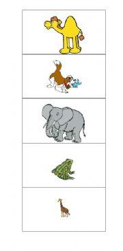 English Worksheets: Memory: Animals