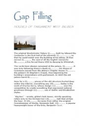 English Worksheets: Gap filling