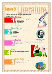 English Worksheets: Genres Of Literature