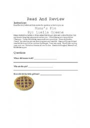 English Worksheets: Reading questions