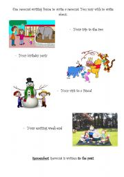 English Worksheets: Recount ideas