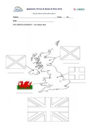 English Worksheet: THE UK- UNION JACK