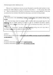English Worksheets: Comprehension skills