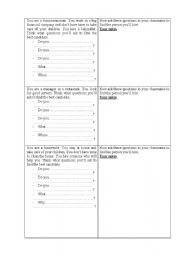 English Worksheets: Hiring a person