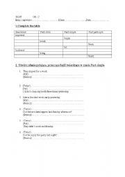 English worksheet: past simple +irregular verbs