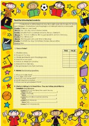 English Worksheet: Charlie Brown