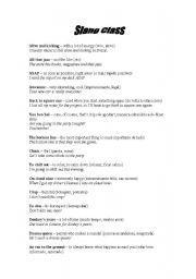English Worksheets: slangs activity