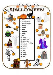 english worksheets halloween vocabulary - Halloween Vocab Words