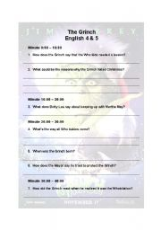English Worksheet: A comprehension activity with the movie