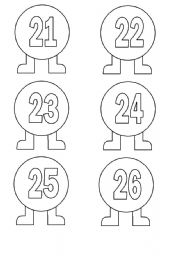 English worksheets: Numbers 21-30
