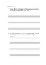 English Worksheets: composition - Step by step