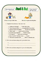 English Worksheets: And & But