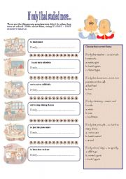 English Worksheets: IF ONLY I HAD STUDIED MORE...