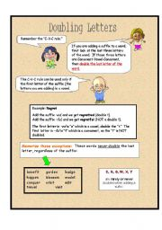 English Worksheets: Doubling Letters