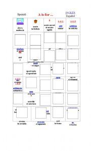 English Worksheets: Vocabulario