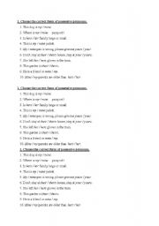 English Worksheets: possesives