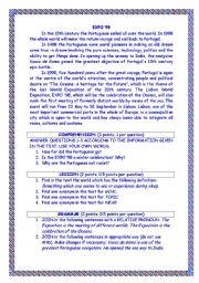 English Worksheets: Expo ´98