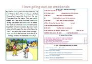 English Worksheet: reading with time expressions
