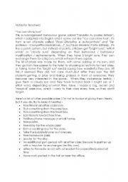 English Worksheets: Behaviour managment 1