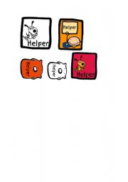 English Worksheets: Helper badges