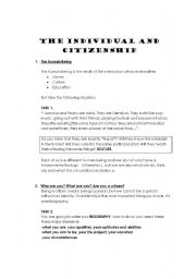 Citizenship Education: The Human Being- The Citizen