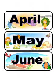 English Worksheet: Calendar flashcards set 2