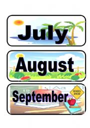 English Worksheet: Calendar flashcards set 3